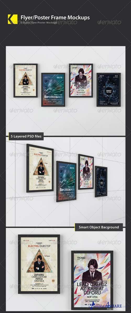 GraphicRiver Flyer/Poster Frame Mockups