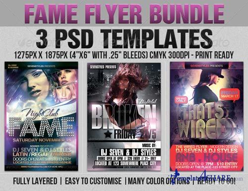 GraphicRiver Fame Flyer Bundle