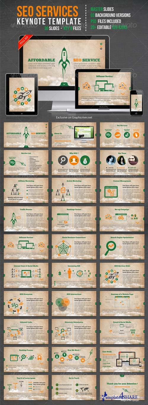 GraphicRiver SEO Services Keynote Template