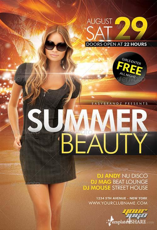 GraphicRiver Summer Beauty Flyer Template