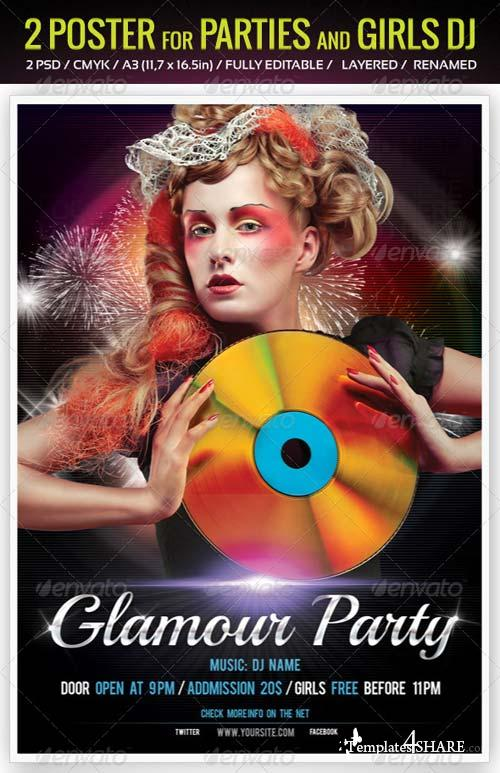 GraphicRiver 2 Poster for Parties and Girls DJ