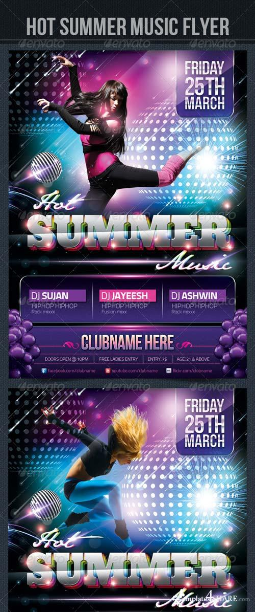 GraphicRiver Hot Summer Music Flyer