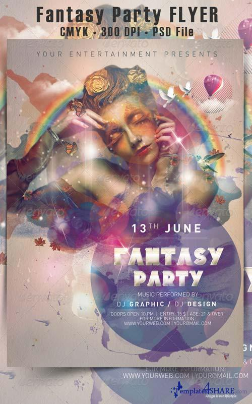 GraphicRiver Fantasy Party Flyer