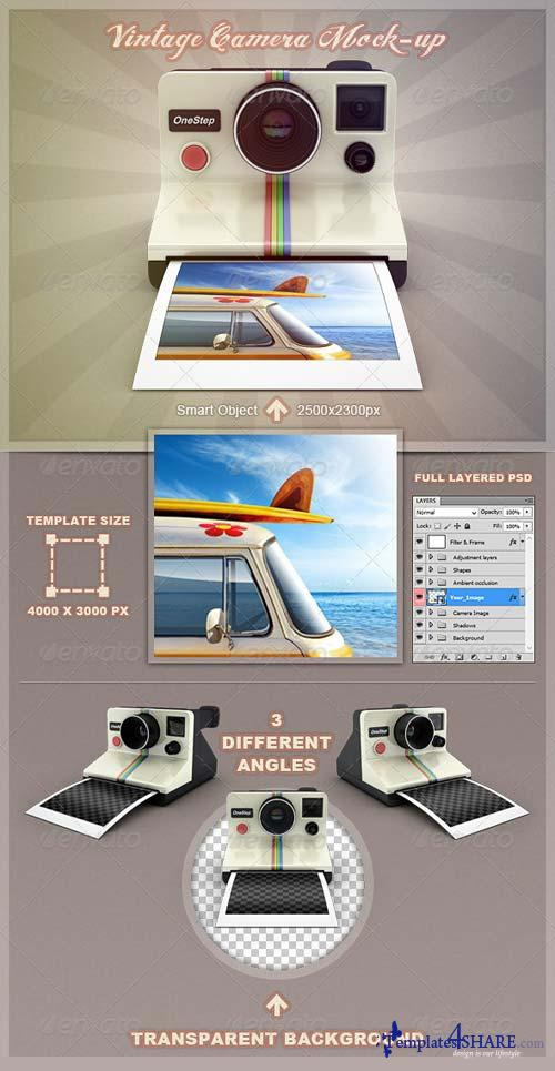 GraphicRiver Vintage Camera Mock-Up