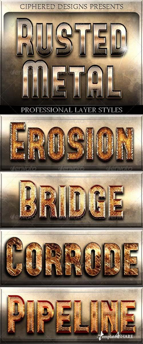 GraphicRiver Rusted Metal - Professional Layer Styles