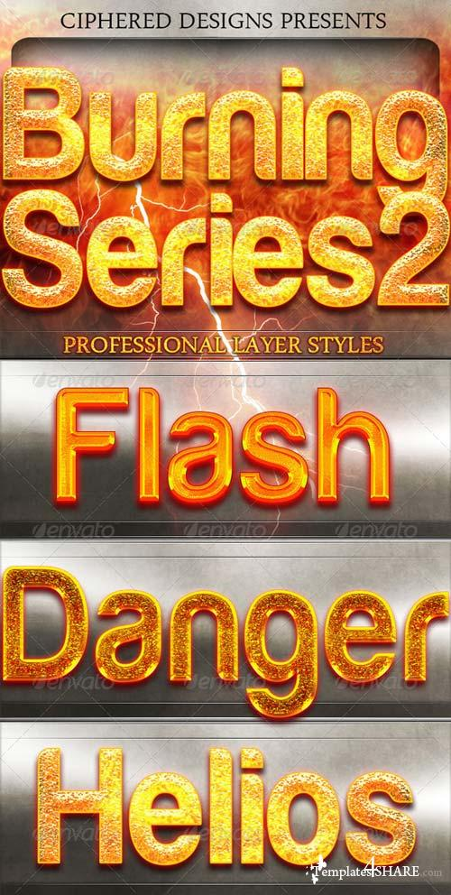 GraphicRiver Burning Series 2 - Professional Layer Styles