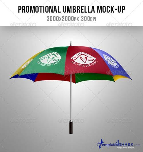 GraphicRiver Umbrella. Mock up for Advertising and Promos