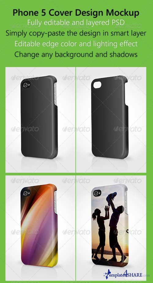GraphicRiver Phone 5 Cover Design Mock up 2