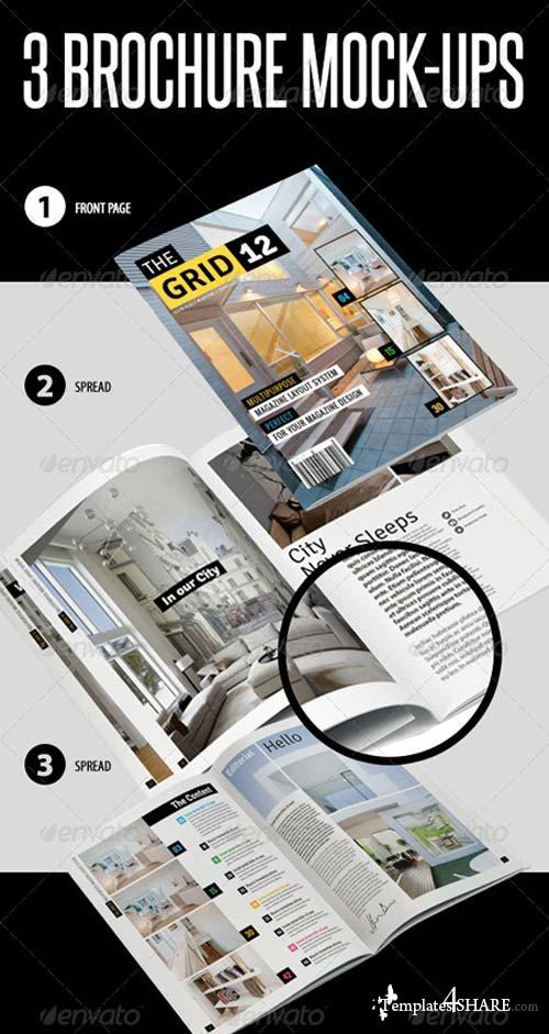 GraphicRiver 3 Brochure Mock-ups
