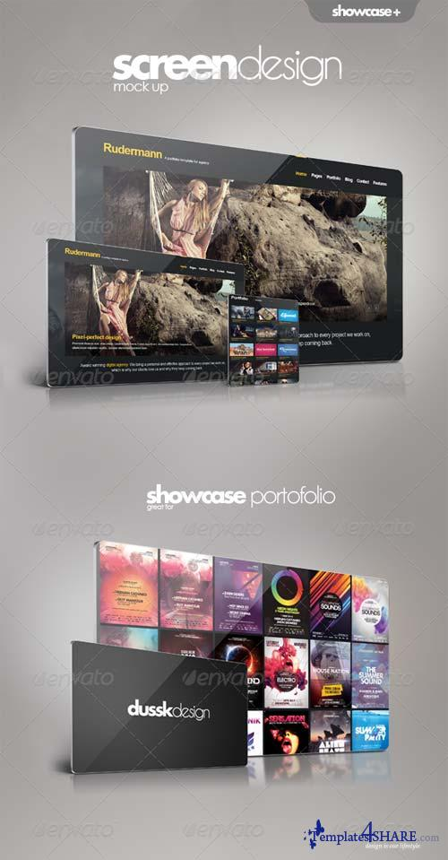 GraphicRiver Screen Showcase Mock-up