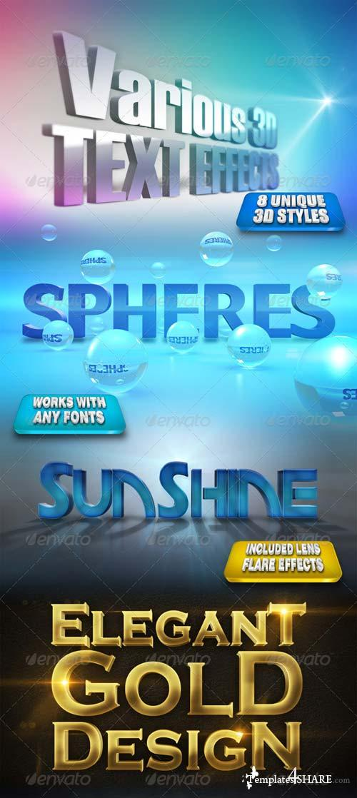 GraphicRiver Various 3D Text Effects