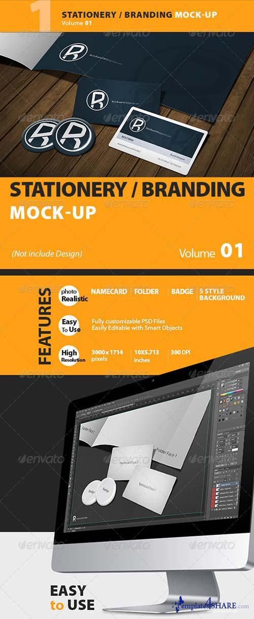 GraphicRiver Stationery Mock-up Vol.1 - Richhunter