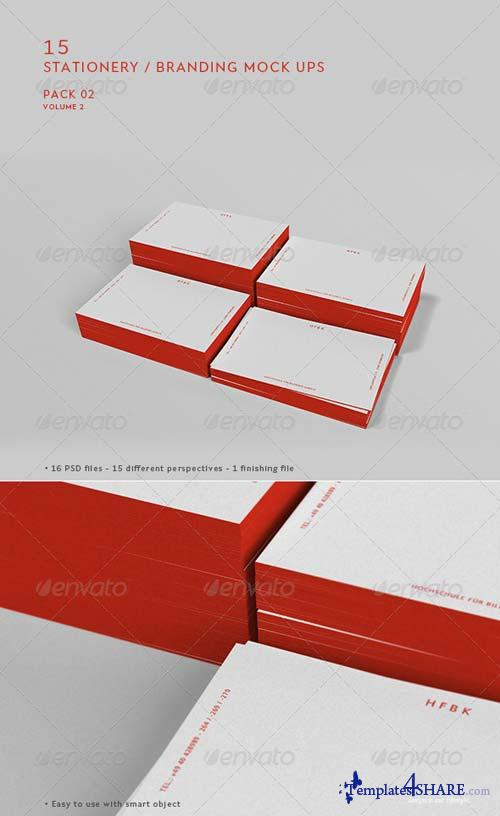 GraphicRiver Stationery / Branding Mock-Up - Pack 2 Vol.02
