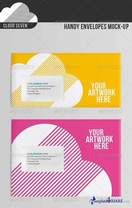 GraphicRiver Handy Envelopes Mock Up
