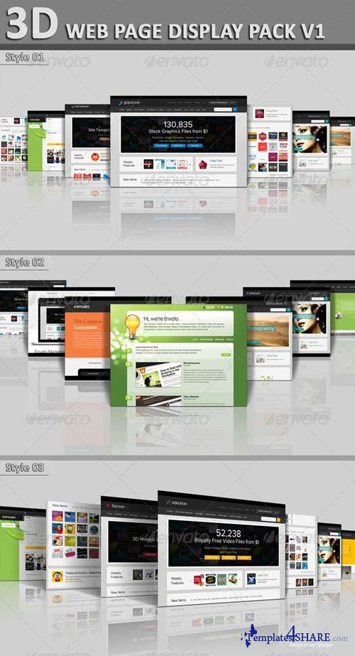 GraphicRiver 3D Web Page Display Pack V1