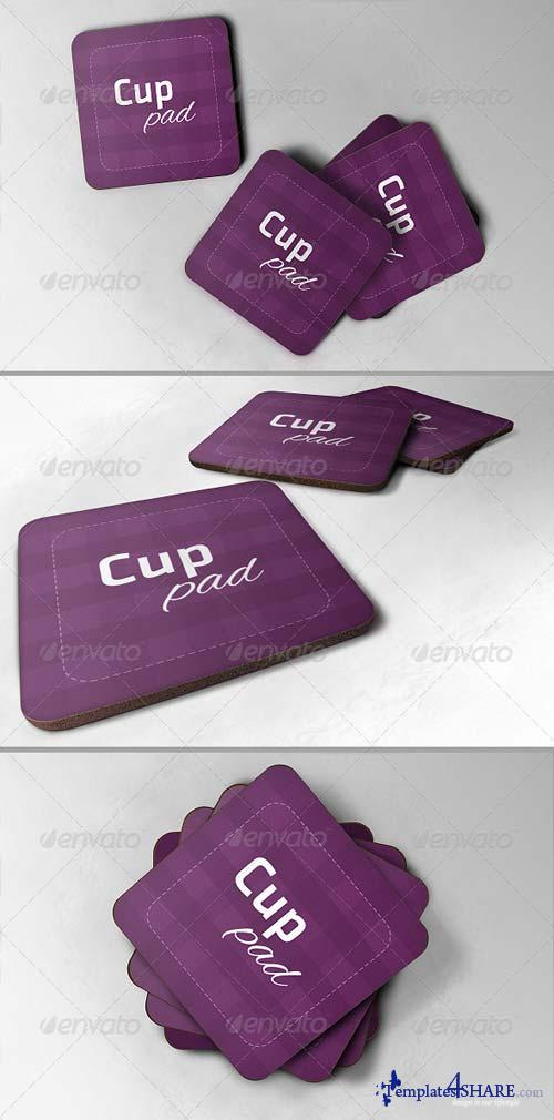 GraphicRiver Realistic Cup Pad Mock-up