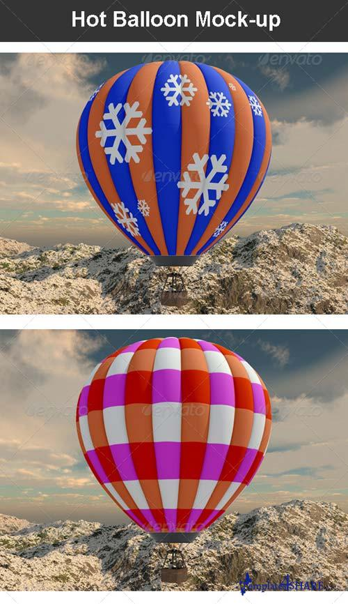 GraphicRiver Hot Balloon Mock-up
