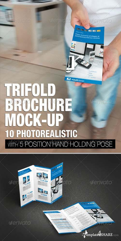 GraphicRiver Trifold brochure mock-up 5131050