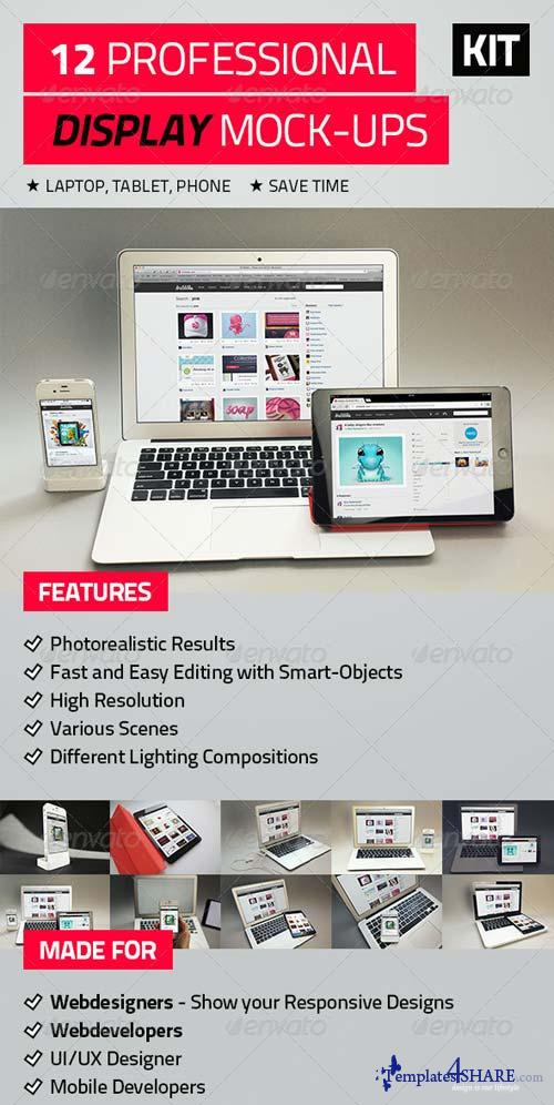 GraphicRiver 12 Professional Display Mock-Ups