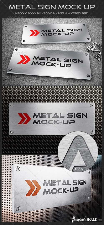 GraphicRiver Metal Sign Mock-up