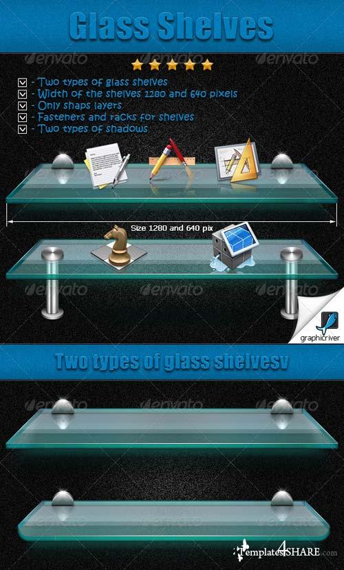 GraphicRiver Glass Shelves
