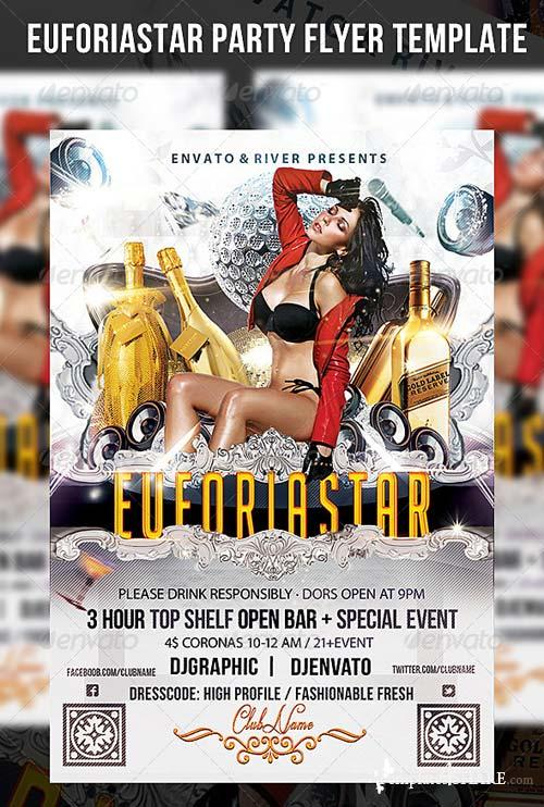 GraphicRiver Euforia Star Flyer Template