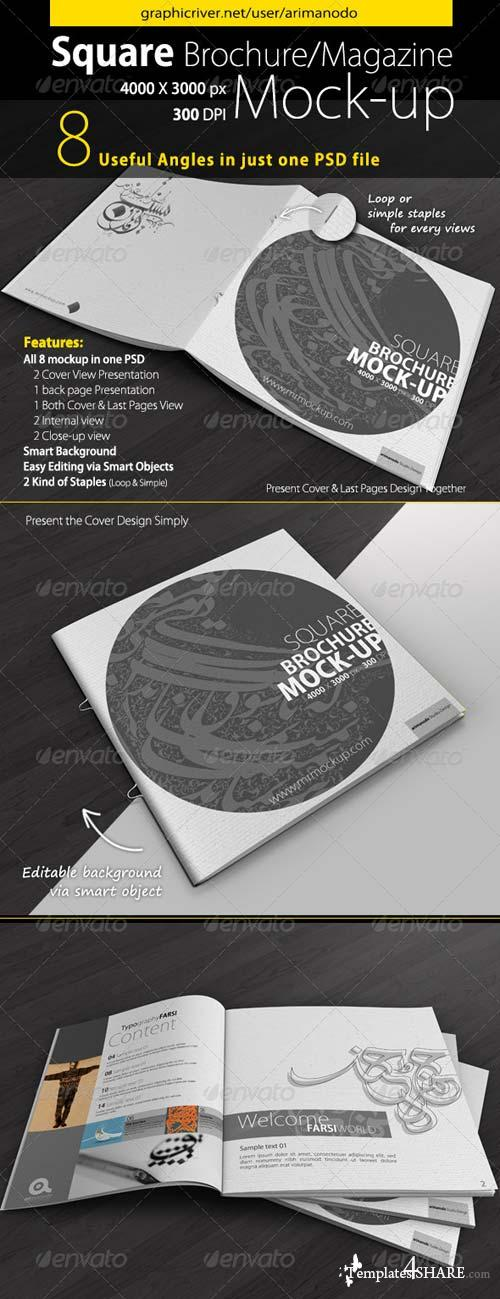 GraphicRiver Square Brochure Mock-Up 5109689