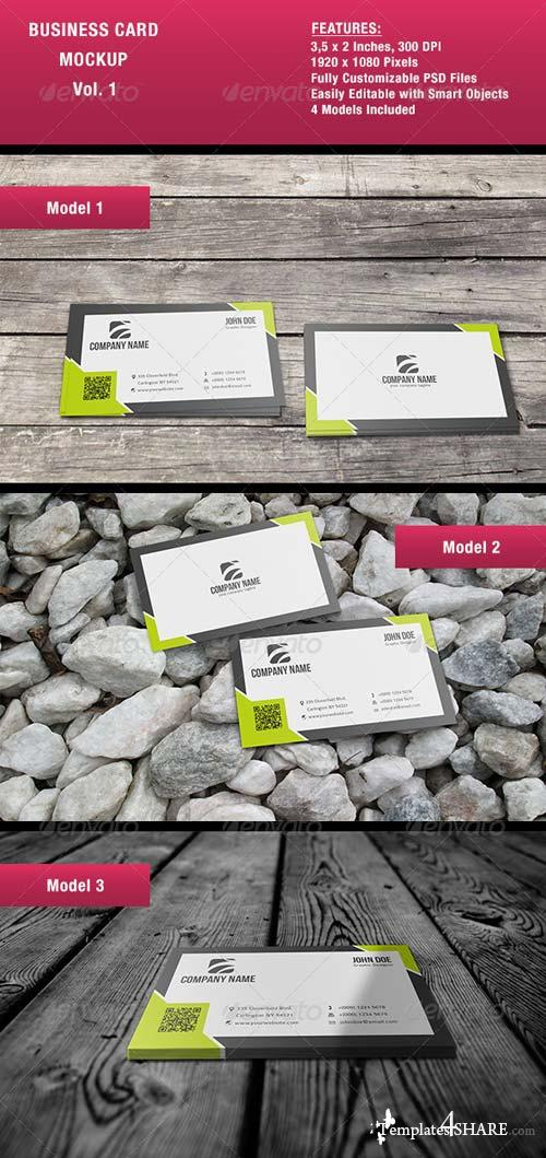 GraphicRiver Business Card Mock-Up Vol. 1