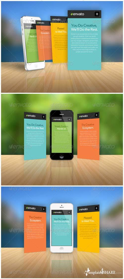 GraphicRiver Phone App Showcase