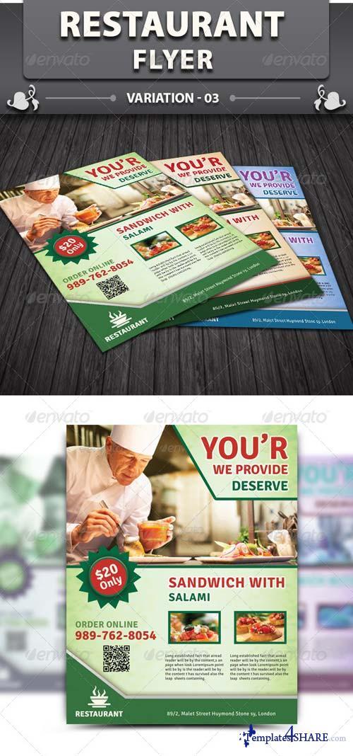 GraphicRiver Restaurant Flyer