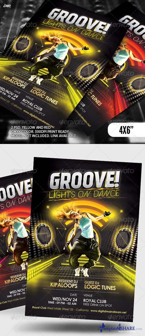 GraphicRiver Groove Dance Club Flyer Template