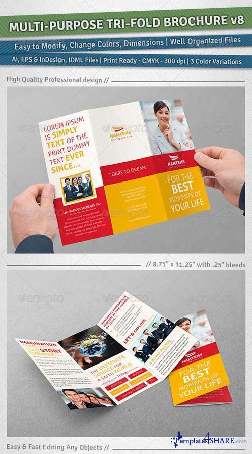 GraphicRiver Multi-purpose Tri-Fold Brochure | Volume 8
