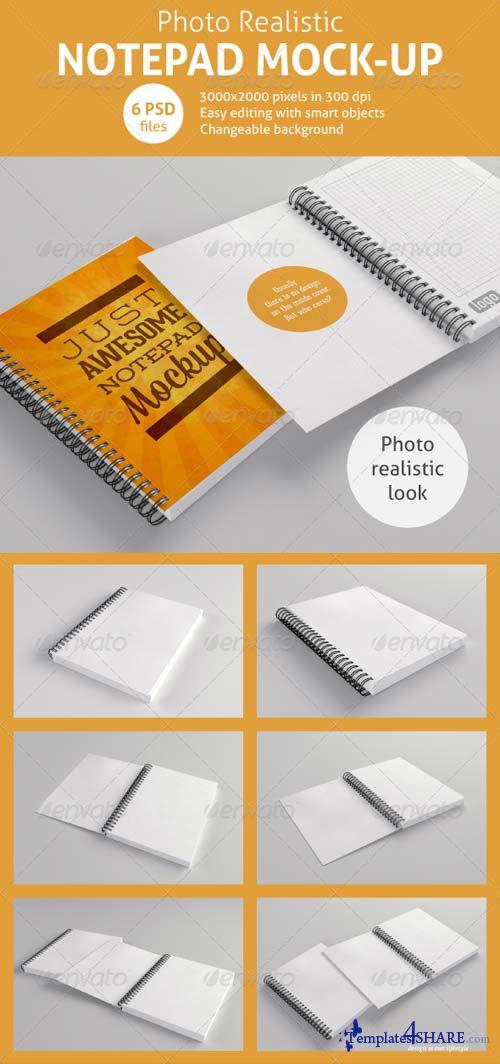 GraphicRiver Realistic Notepad Mock-Up