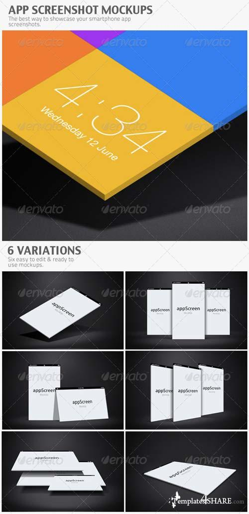 GraphicRiver App Screenshot Mockups