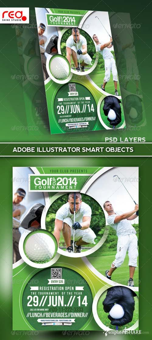 GraphicRiver Golf Tournament Flyer Poster Magazine Template