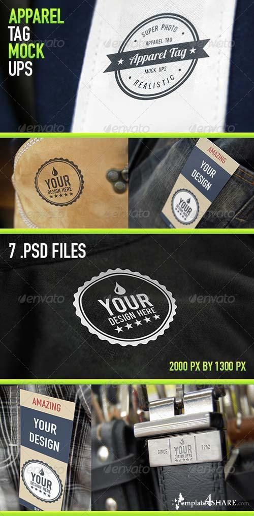 GraphicRiver Apparel Tag Mock Ups v3