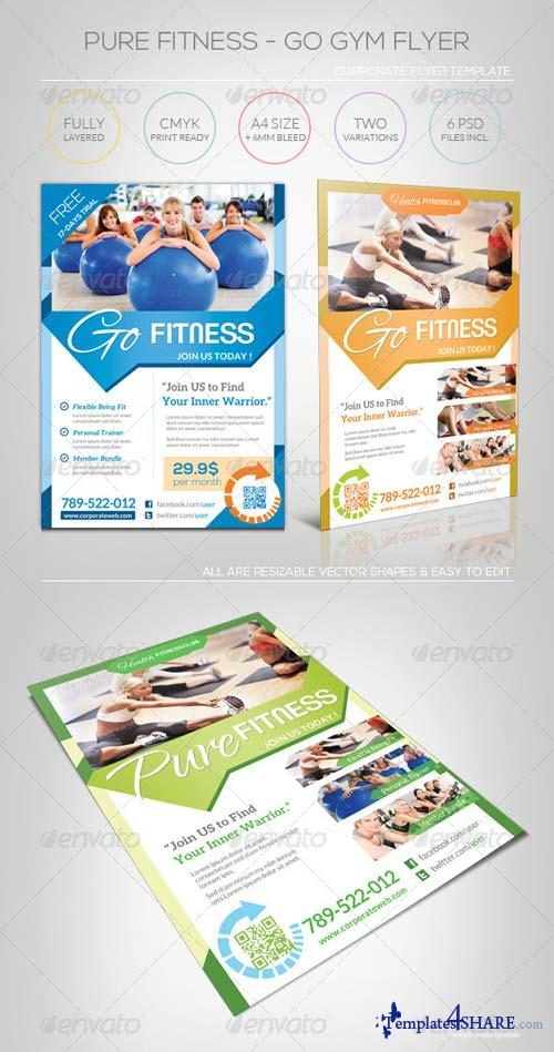 GraphicRiver Pure Fitness - Go Gym - Flyer Template