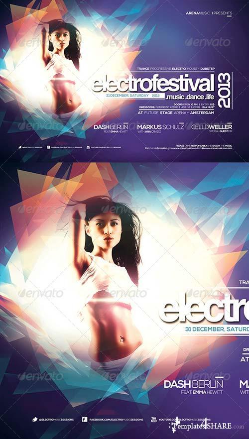 GraphicRiver Electro Festival Template Vol 1