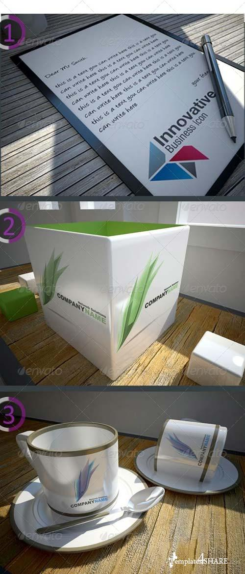 GraphicRiver 5 Realisc Mock-Ups