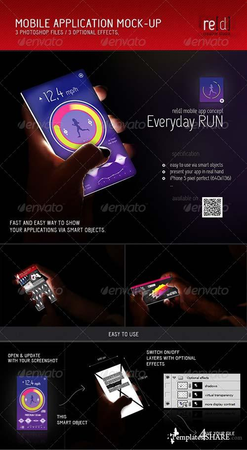GraphicRiver Mobile Applicaton Mock-Up