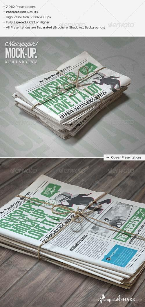 GraphicRiver Newspaper / Newsletter Mock-Up - 2