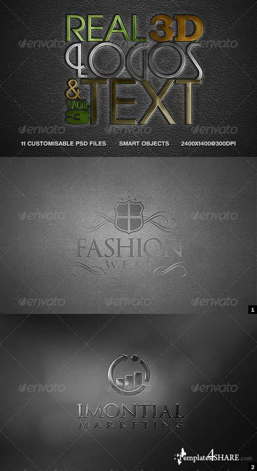 GraphicRiver Real 3D Logos and Text - Vol3