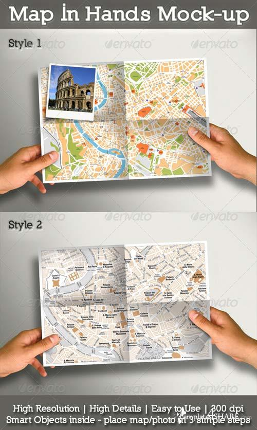 GraphicRiver Map In Hands Mock-up