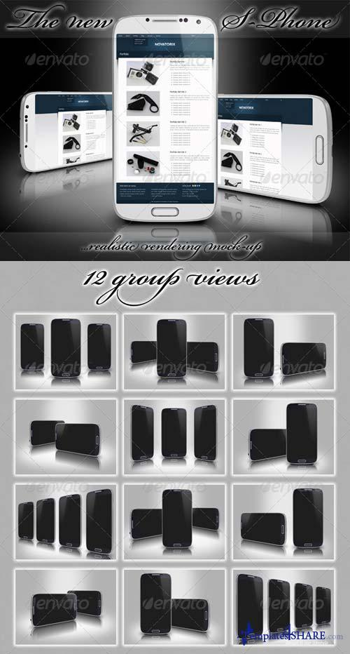 GraphicRiver The New S4 Phone Mockup