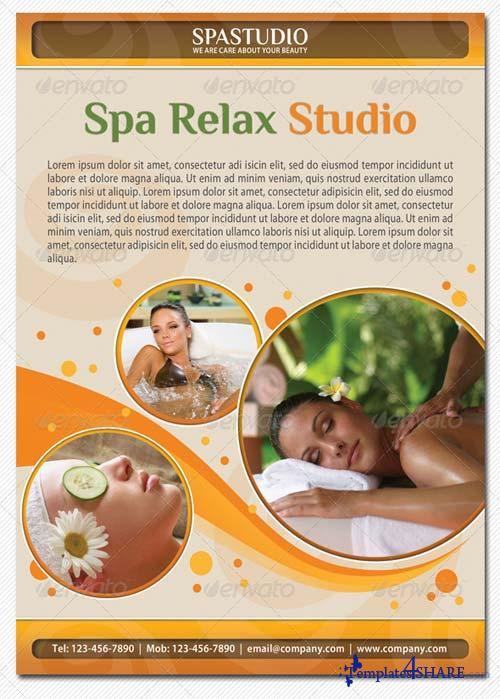 GraphicRiver Spa Studio Flyer