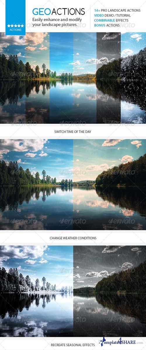 GraphicRiver GEO - Premium Nature / Landscape Actions Set