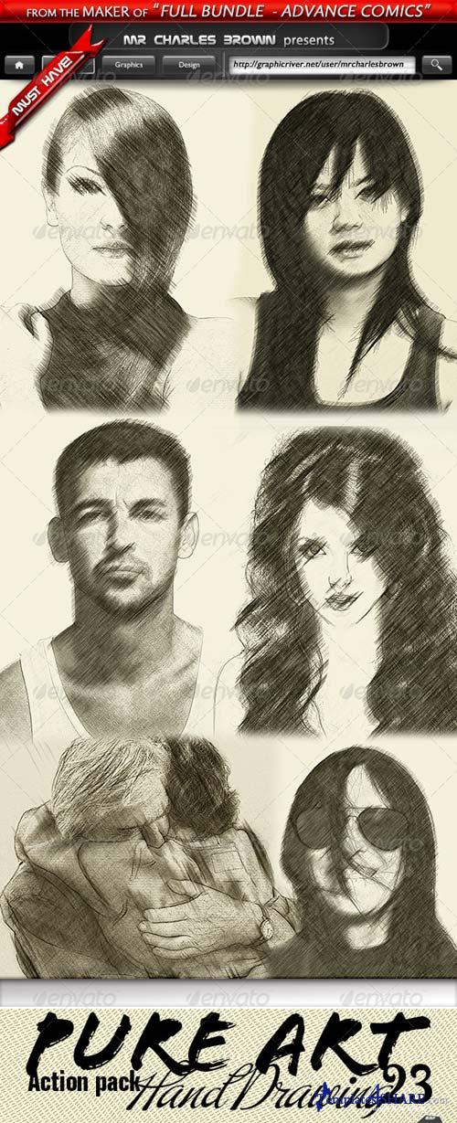 GraphicRiver Pure Art Hand Drawing 23 - Caribbean Antique Sketch