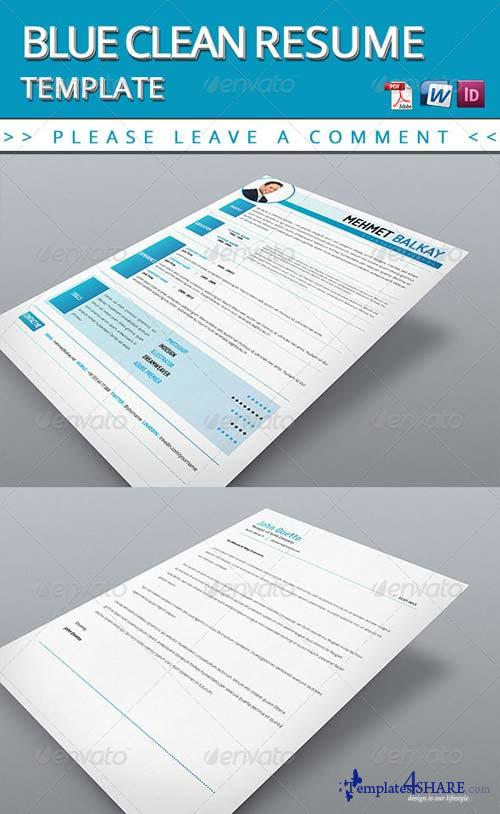 GraphicRiver Blue Resume Template