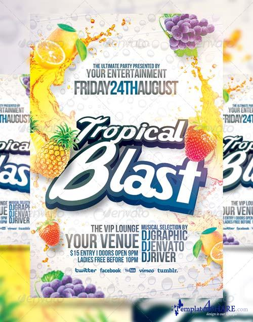 GraphicRiver Tropical Blast Party Flyer