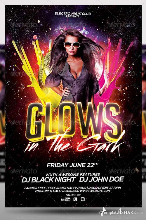 GraphicRiver Glows in the Dark Party Flyer